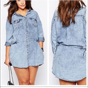 New Look • Acid Wash Denim Dress